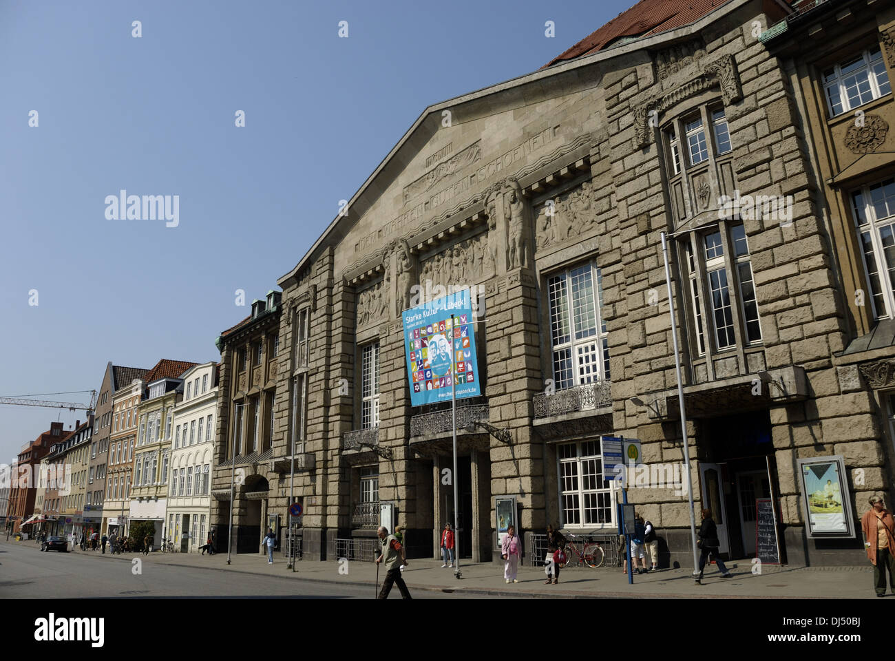 Town Theatre in Lubeck - Stock Image