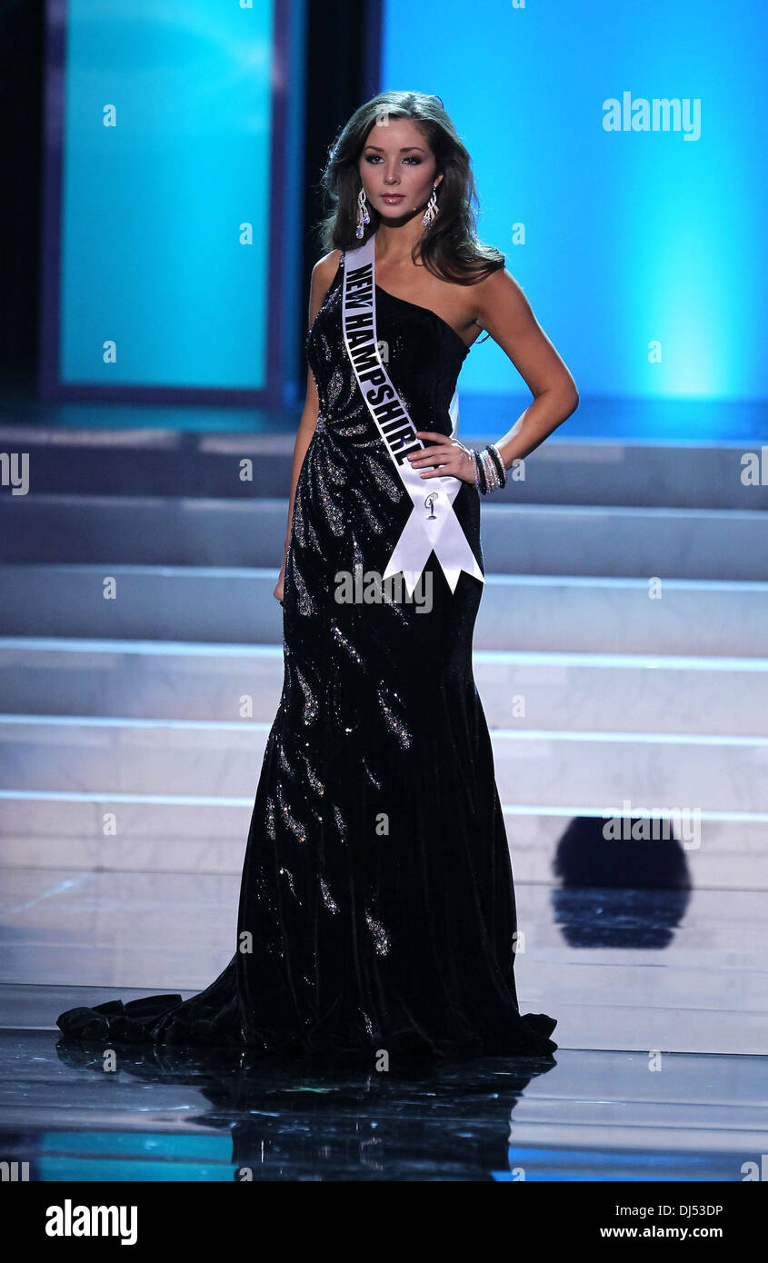 Ryanne Harms Miss New Hampshire USA 2012 Miss USA Preliminary Competition at The Theater of Performing Arts at Planet Hollywood Resort and Casino Las Vegas, Nevada - 30.05.12 - Stock Image