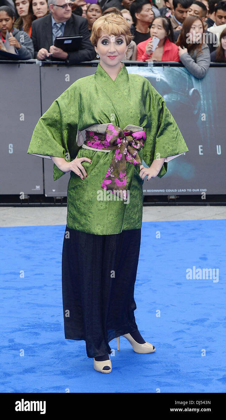 Rosamund Hanson at the premiere of Prometheus at Leicester Square, London, England- 31.05.12 - Stock Image