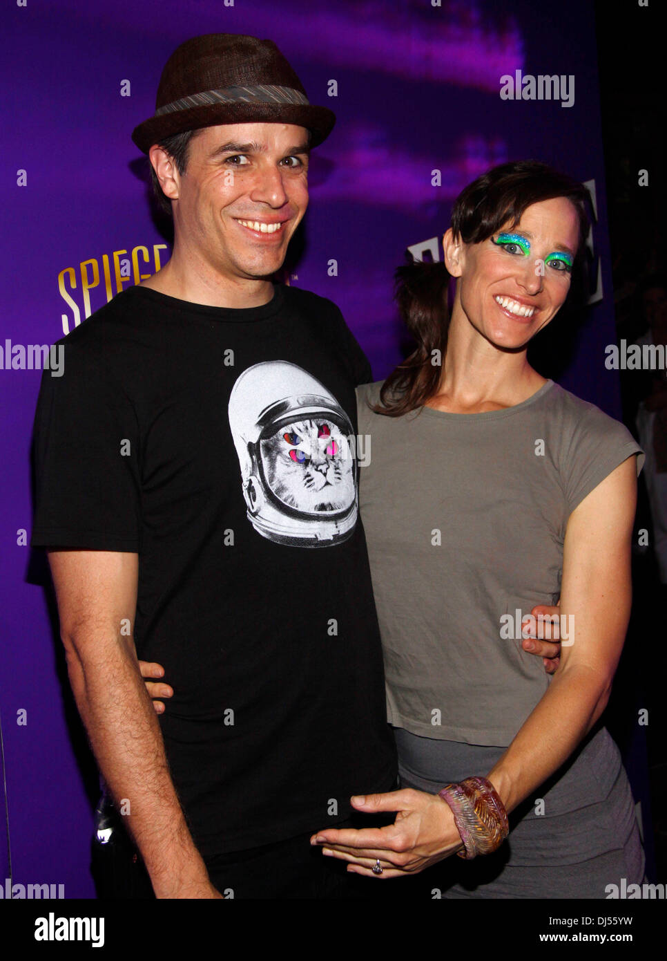 Jonathan Taylor and Anne Goldmann Opening night of Spiegelworld's 'Empire' on West 45th Street New York City, USA – 31.05.12 - Stock Image