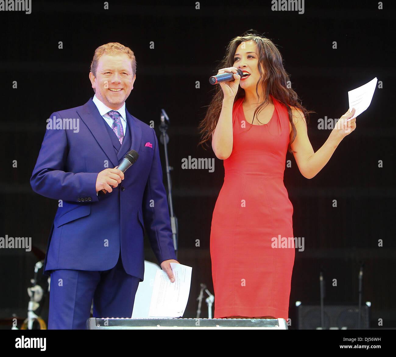 8be6b441834043 Jon Culshaw and Myleene Klass at the Jubilee Family Festival at Hyde Park  London, England