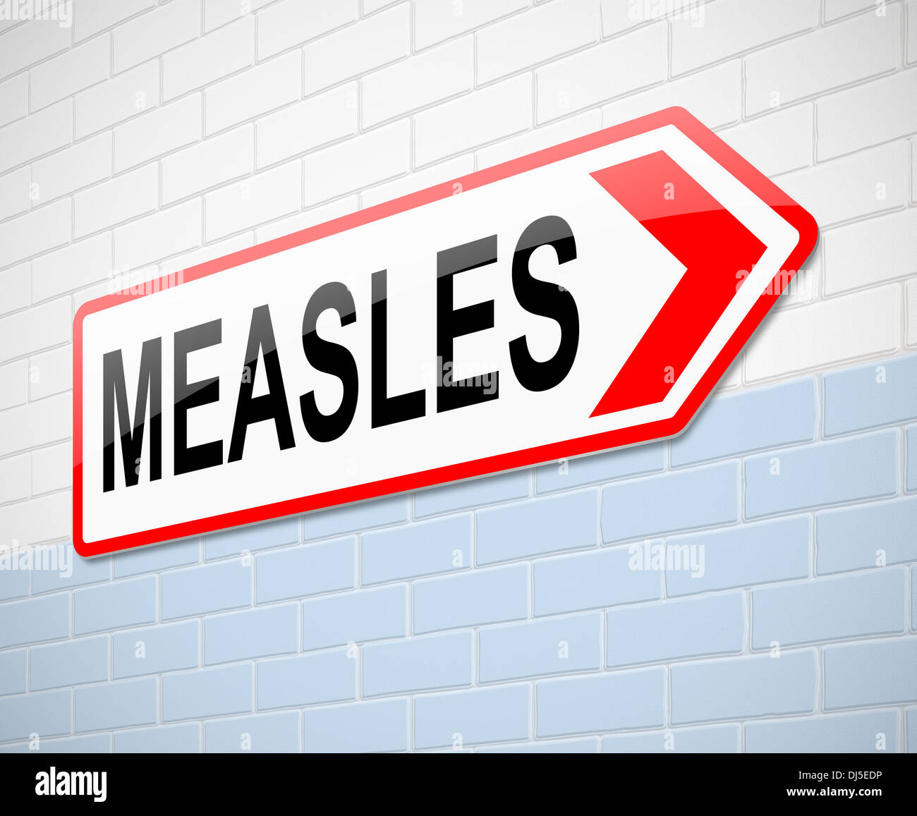 Measles concept. - Stock Image