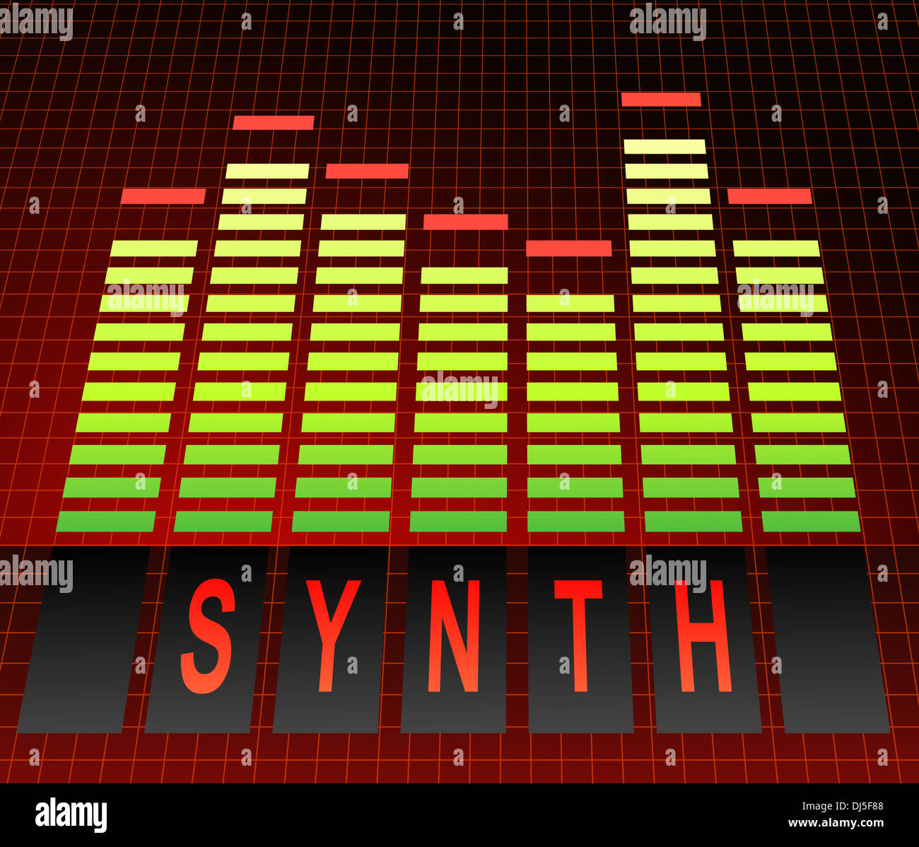 Synth concept. - Stock Image