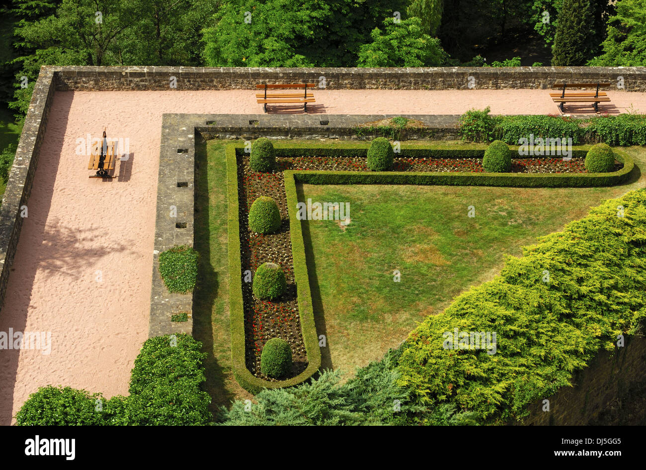 The art of gardening,  park in Luxembourg Stock Photo