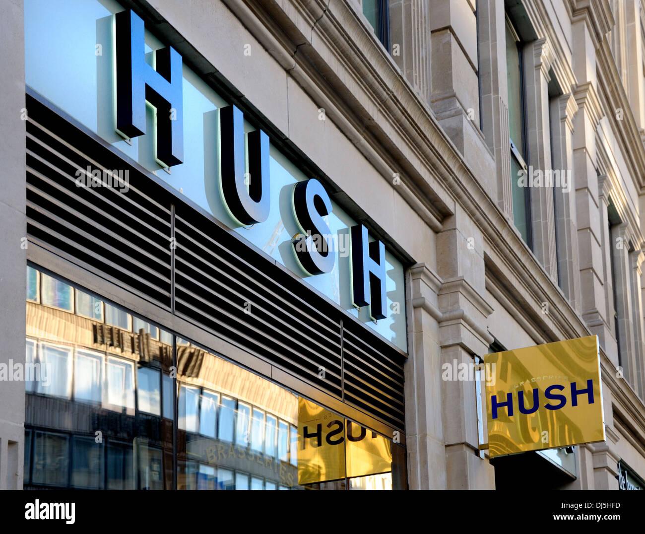 London, England, UK. Hush brasserie facade - Stock Image