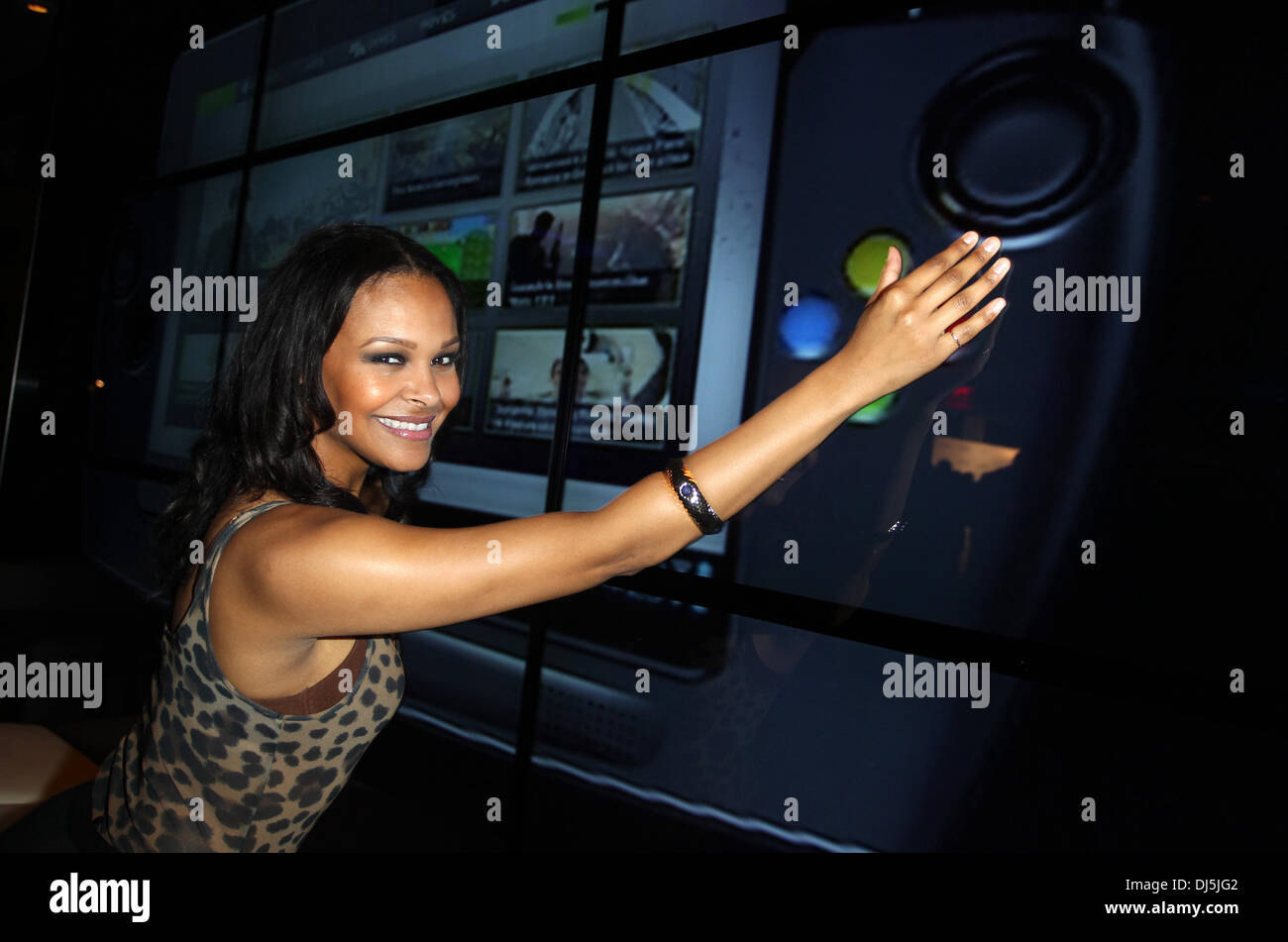 Samantha Mumba Wikipad and Nvidia host E3 2012 VIP red carpet Stock