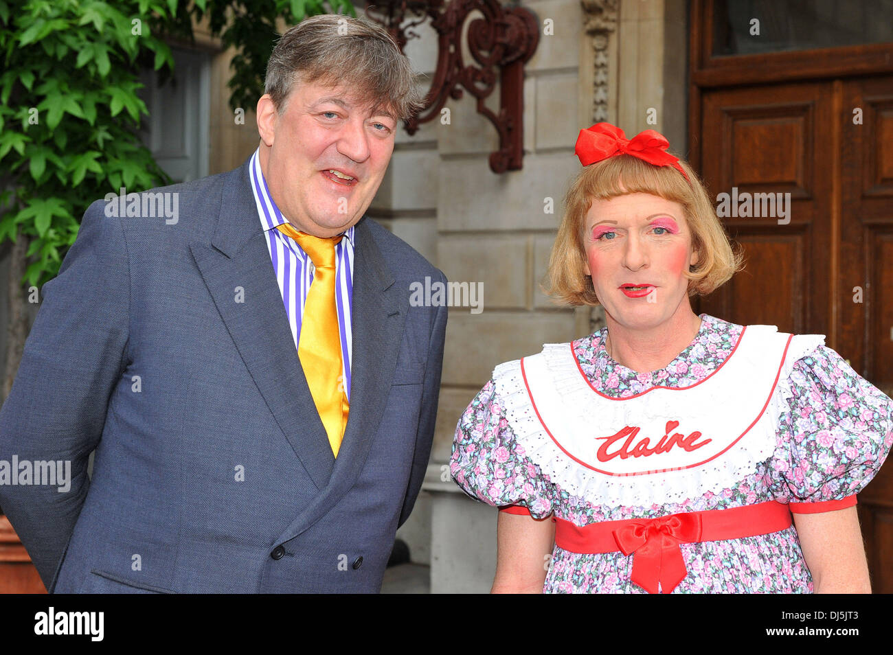 Stephen Fry and Grayson Perry The Royal Academy of Arts unveils plans for The Keeper's House – a major new building Stock Photo