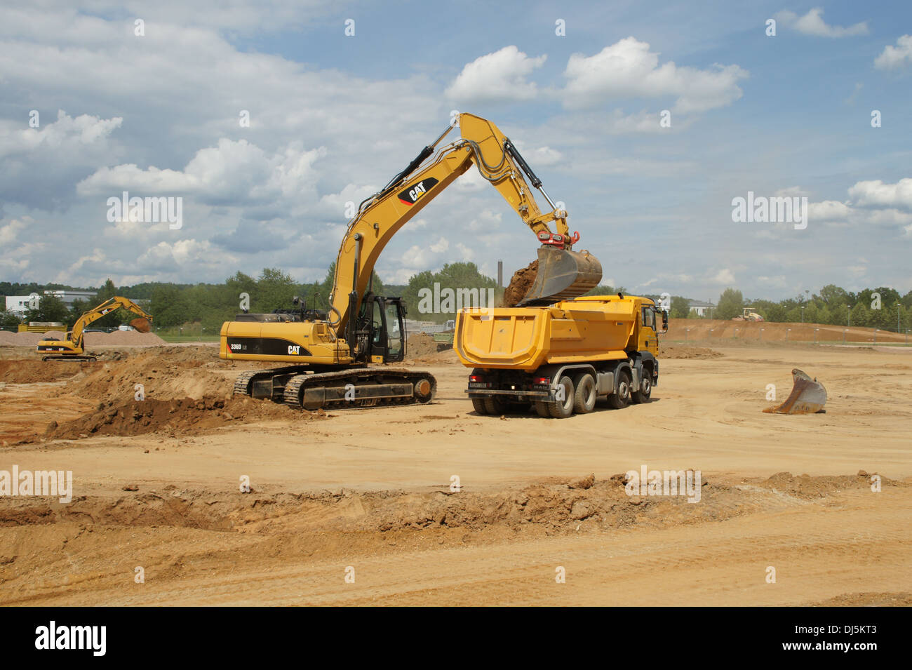 Digger at Work - Stock Image