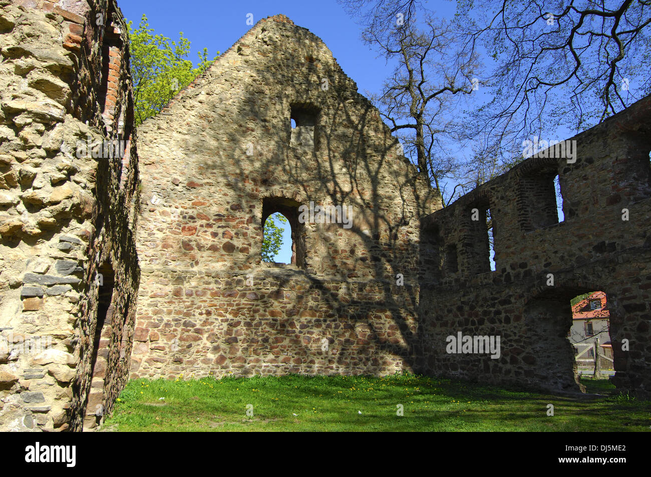 Ruins of a monastry - Stock Image