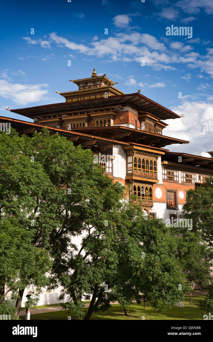Bhutan, Punakha Dzong, historic monastery and administrative centre - Stock Image