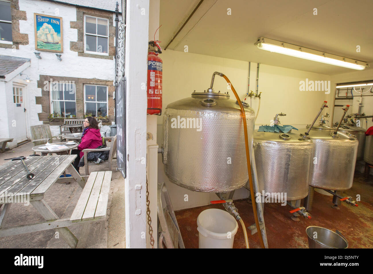 The micro brewery attached to the ship In at Low Newton by the Sea, Northumberland, Uk, that brews all their own beer. - Stock Image