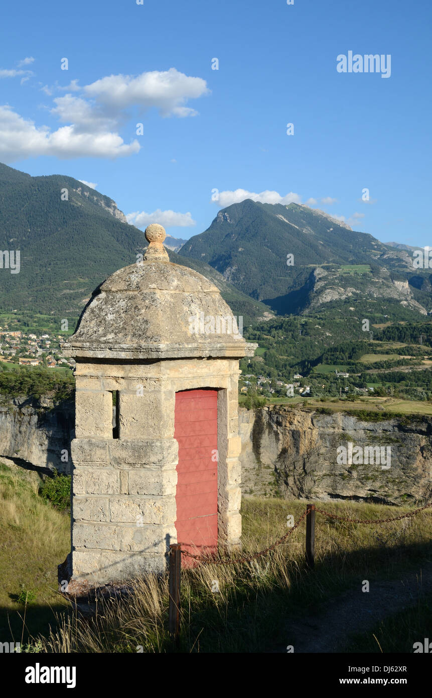 Vauban Look-Out Tower or Watch -Tower Mont-Dauphin Hautes-Alpes France - Stock Image