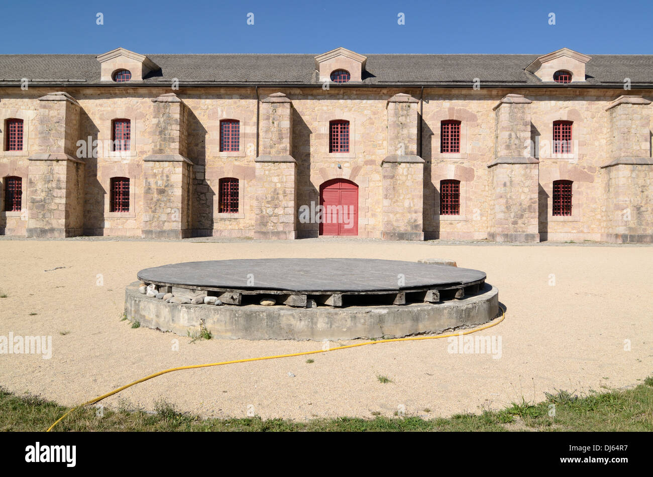 Military Arsenal or Munitions Store by Vauban Mont-Dauphin Hautes-Alpes France - Stock Image