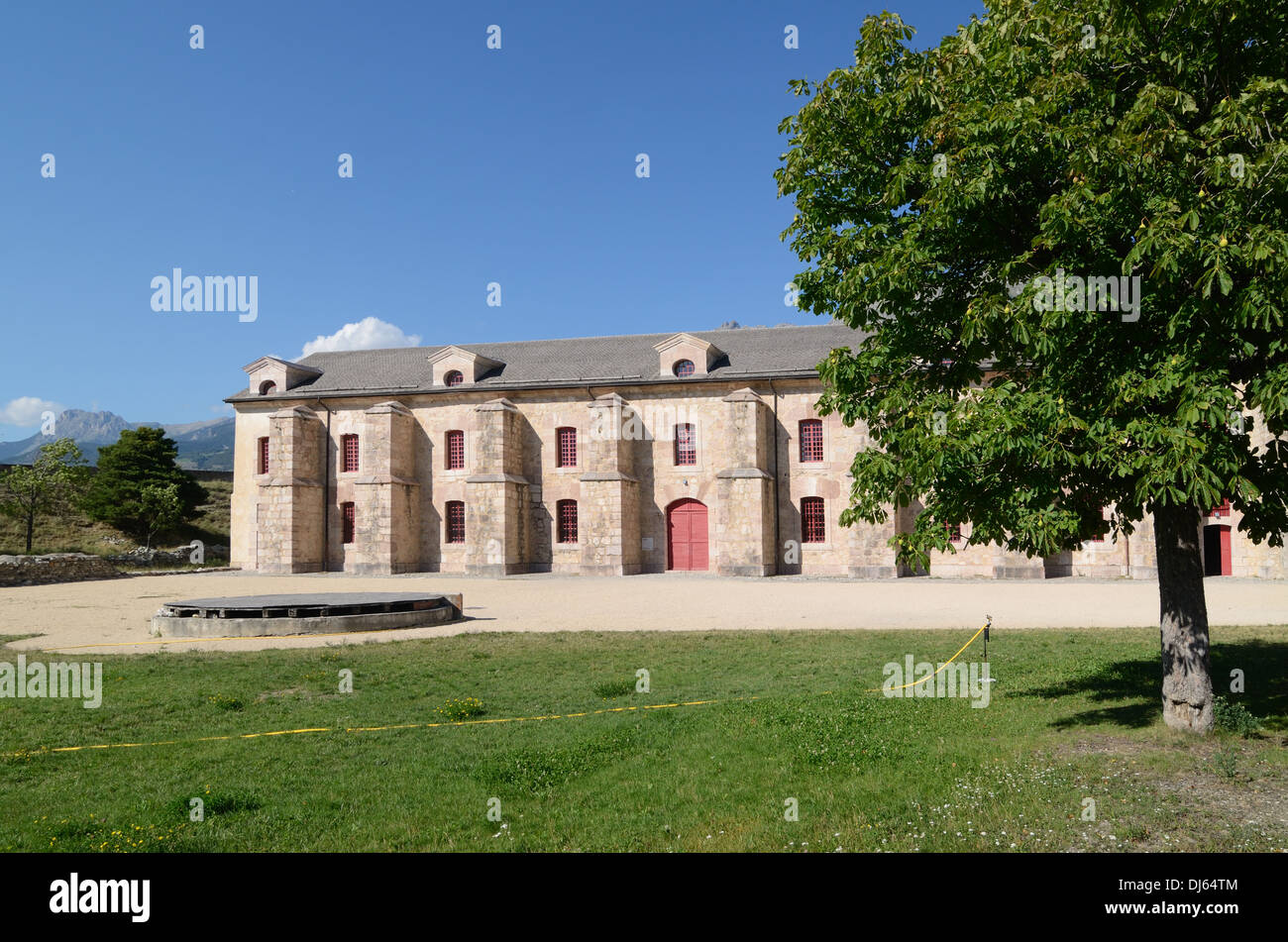 Military Arsenal Munitions or Ammunition Store Mont-Dauphin Hautes-Alpes France - Stock Image