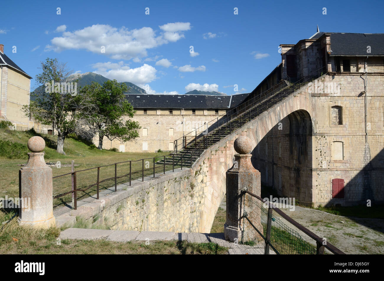 Old Army Barracks Mont-Dauphin Hautes-Alpes France - Stock Image