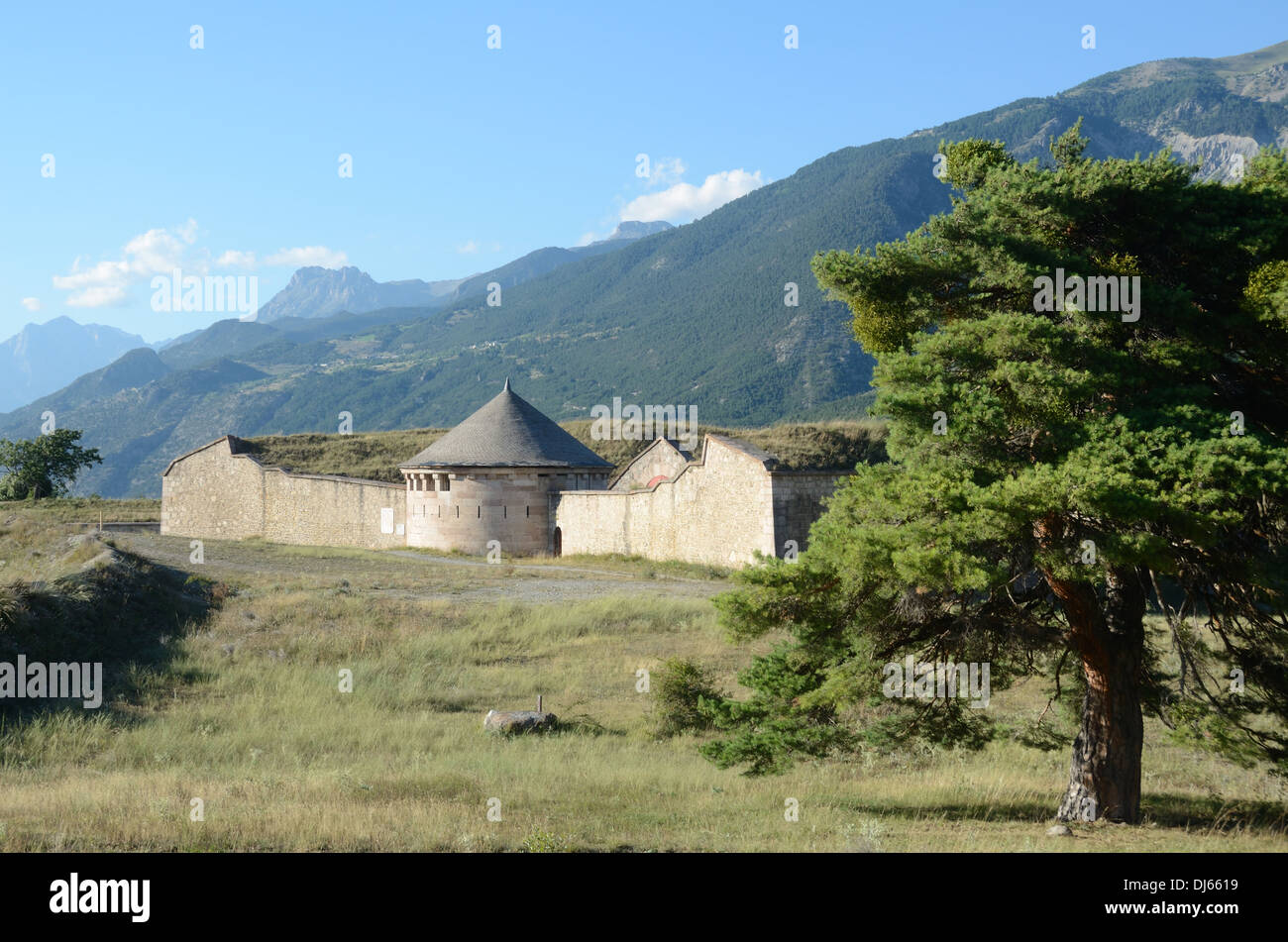Vauban Fortifications Walled Town and Look-out Tower Mont-Dauphin Hautes-Alpes France - Stock Image