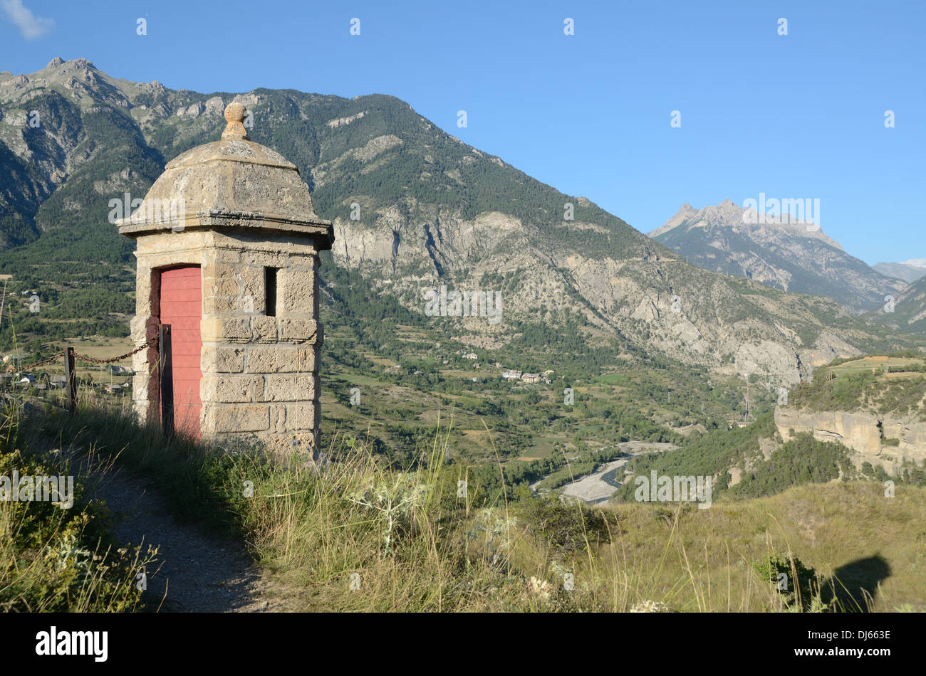 Vauban Look-Out Watch-tower or Observation Tower Mont-Dauphin Walled Military Town Hautes-Alpes France - Stock Image