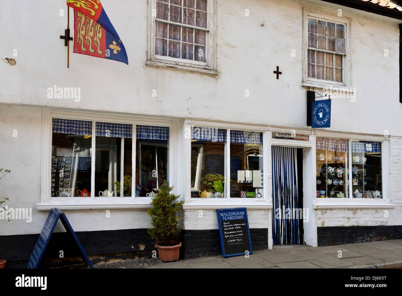 Tearooms, High Street, Little Walsingham, Norfolk, England, United Kingdom, UK, Europe Stock Photo