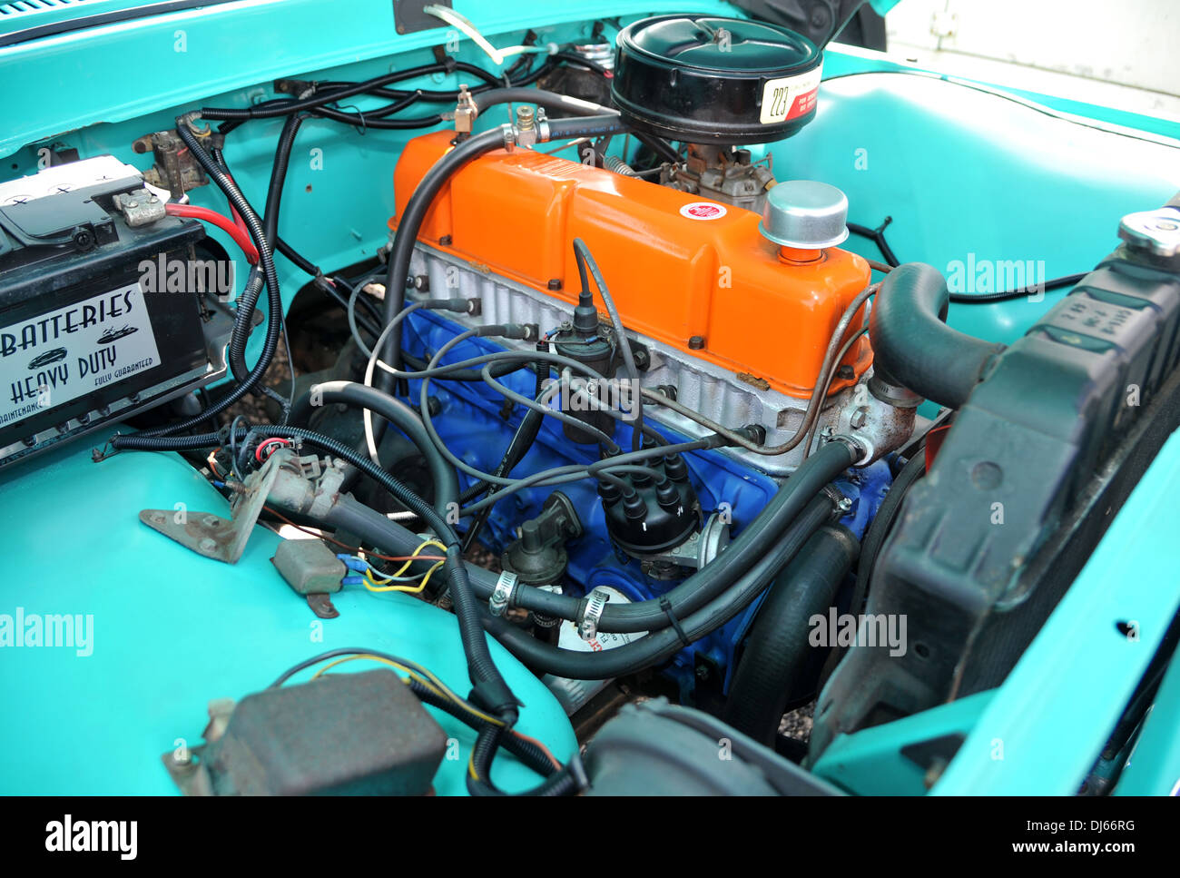 1964 Ford F100 Pickup Blue Stock Photos Images Alamy Classic American Pick Up Truck Image
