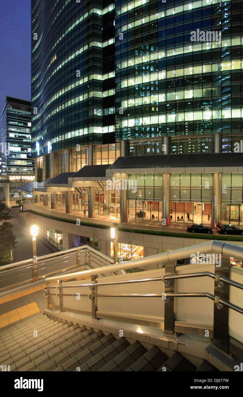 Japan, Tokyo, Shiodome, modern architecture, buildings, - Stock Image