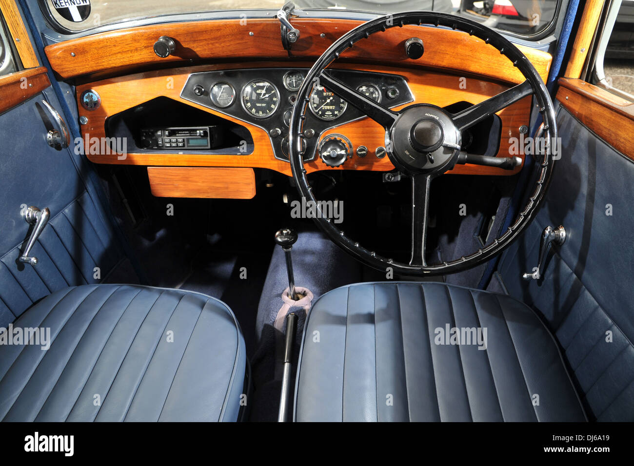 rover 10 sports tourer 1930s classic british car interior stock photo 62834501 alamy. Black Bedroom Furniture Sets. Home Design Ideas