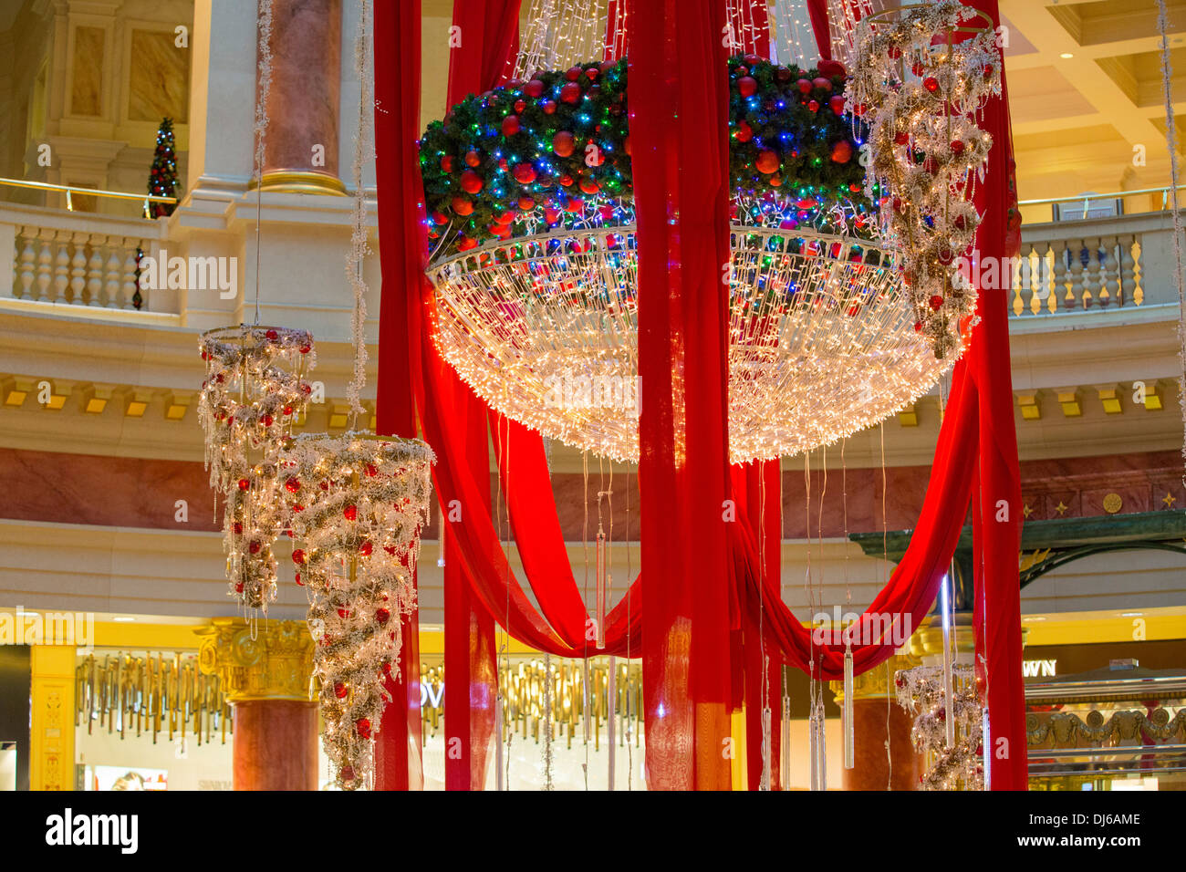 Christmas decorations at the Trafford Centre in Manchester, UK - Stock Image