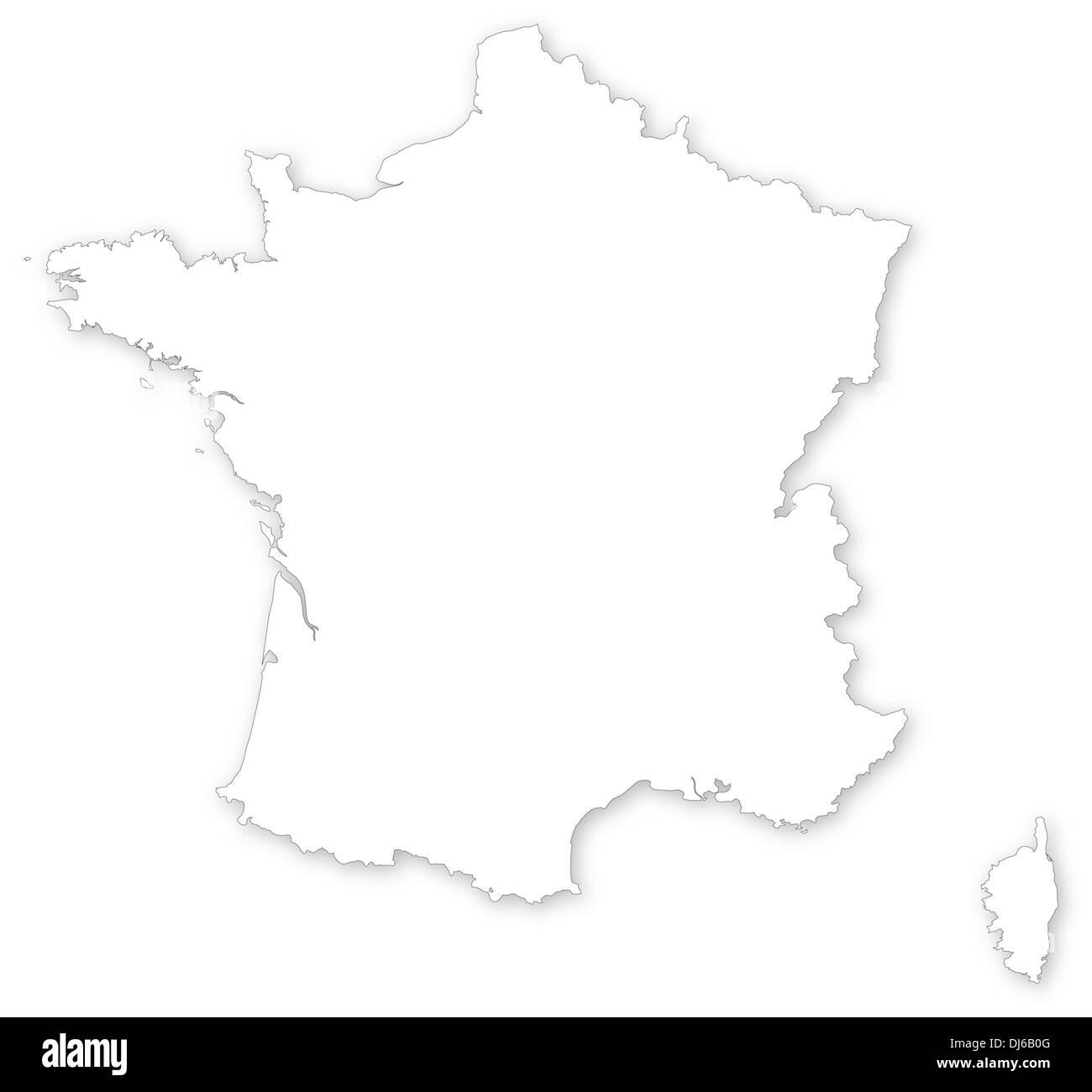 Corsica France Europe Map Stock Photos Corsica France Europe Map