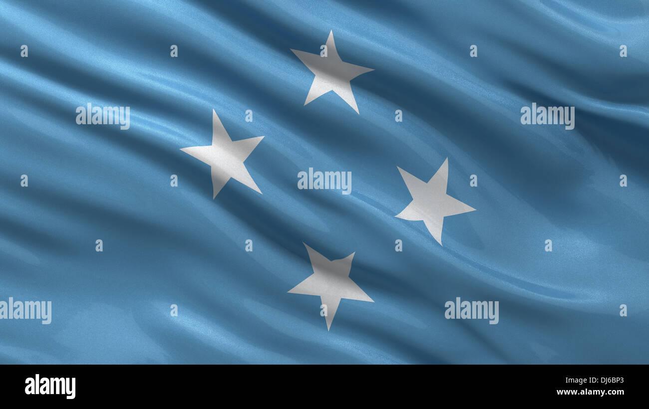 Flag of Micronesia - Stock Image