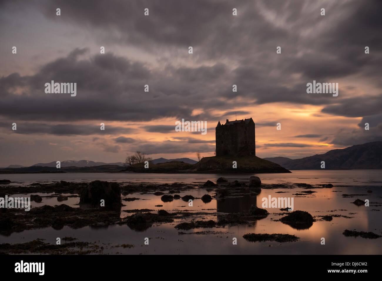 Castle Stalker in Appin, Scotland - Stock Image
