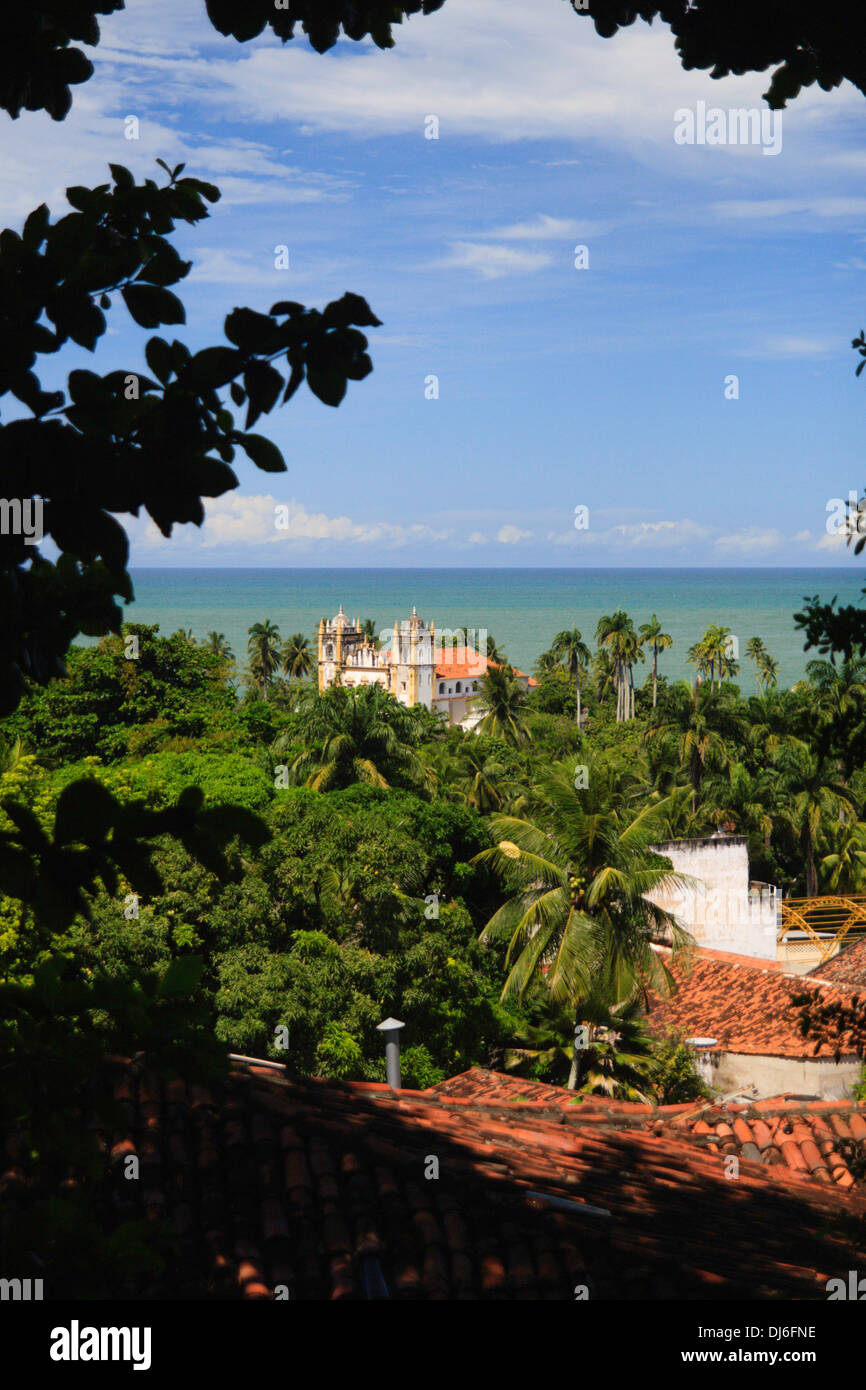 Shoreline of Olinda , Recife - Stock Image
