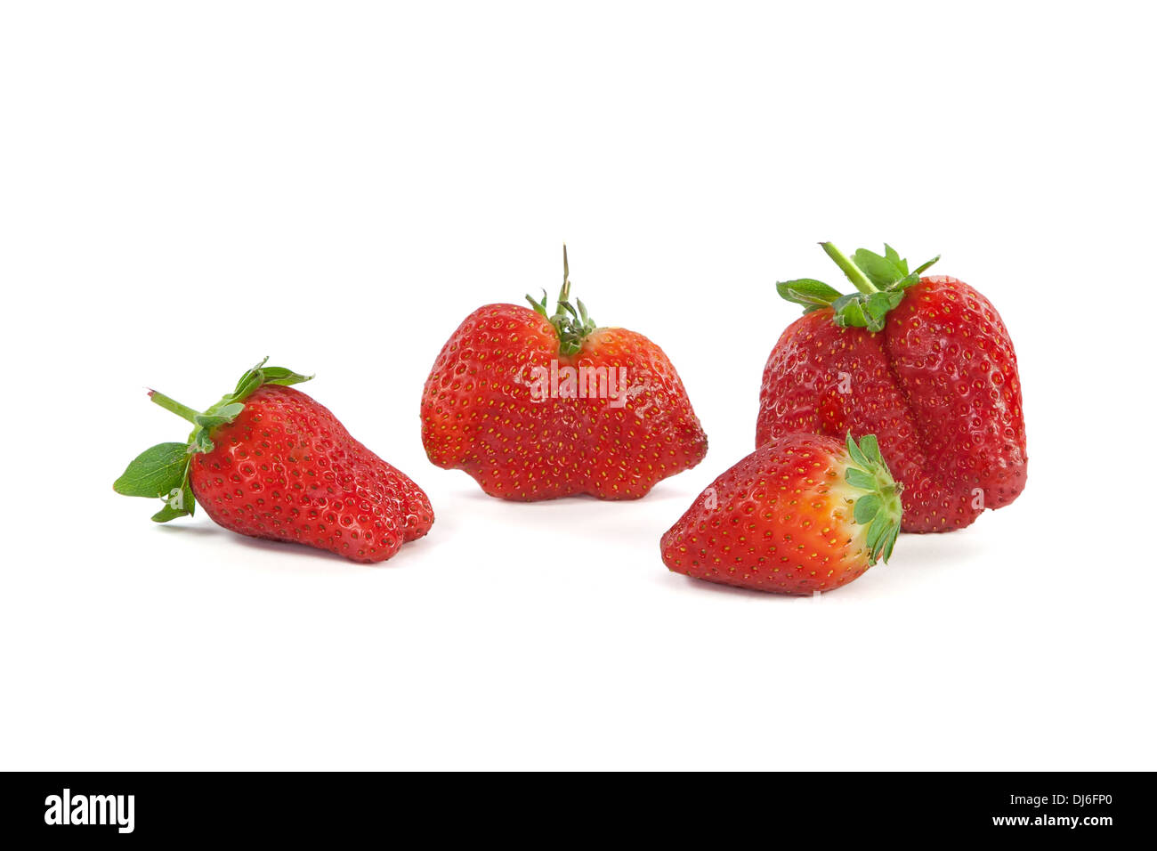 Strawberries isolated on white background - Stock Image
