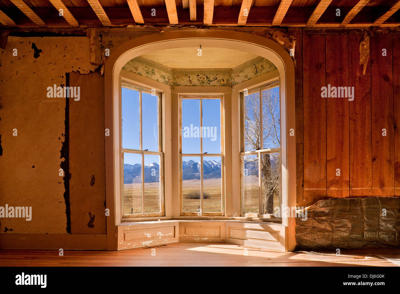 Inside Beckwith Ranch in Wescliffe, Colorado - Stock Image