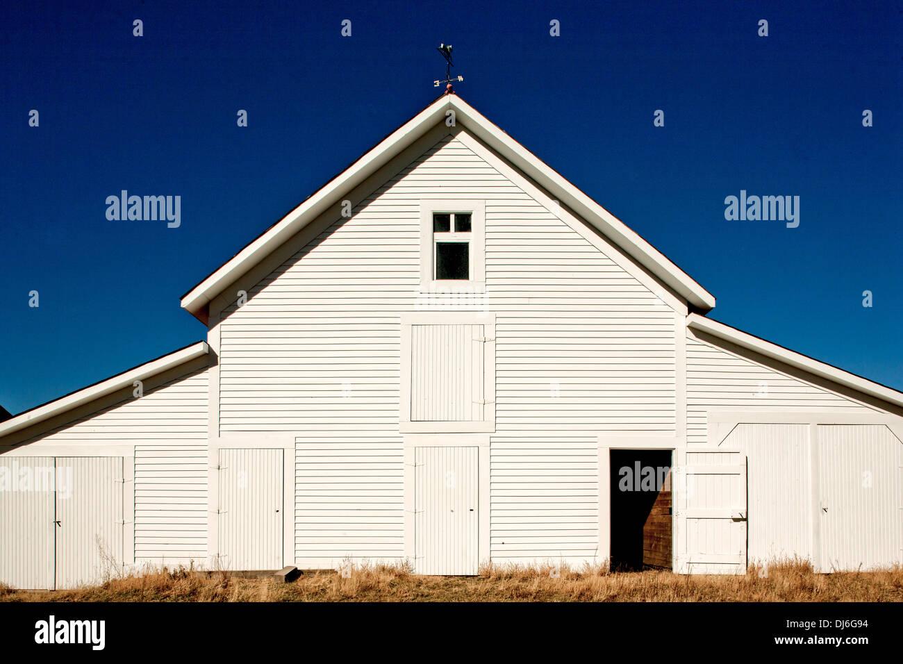 Barn in the Colorado mountains - Stock Image