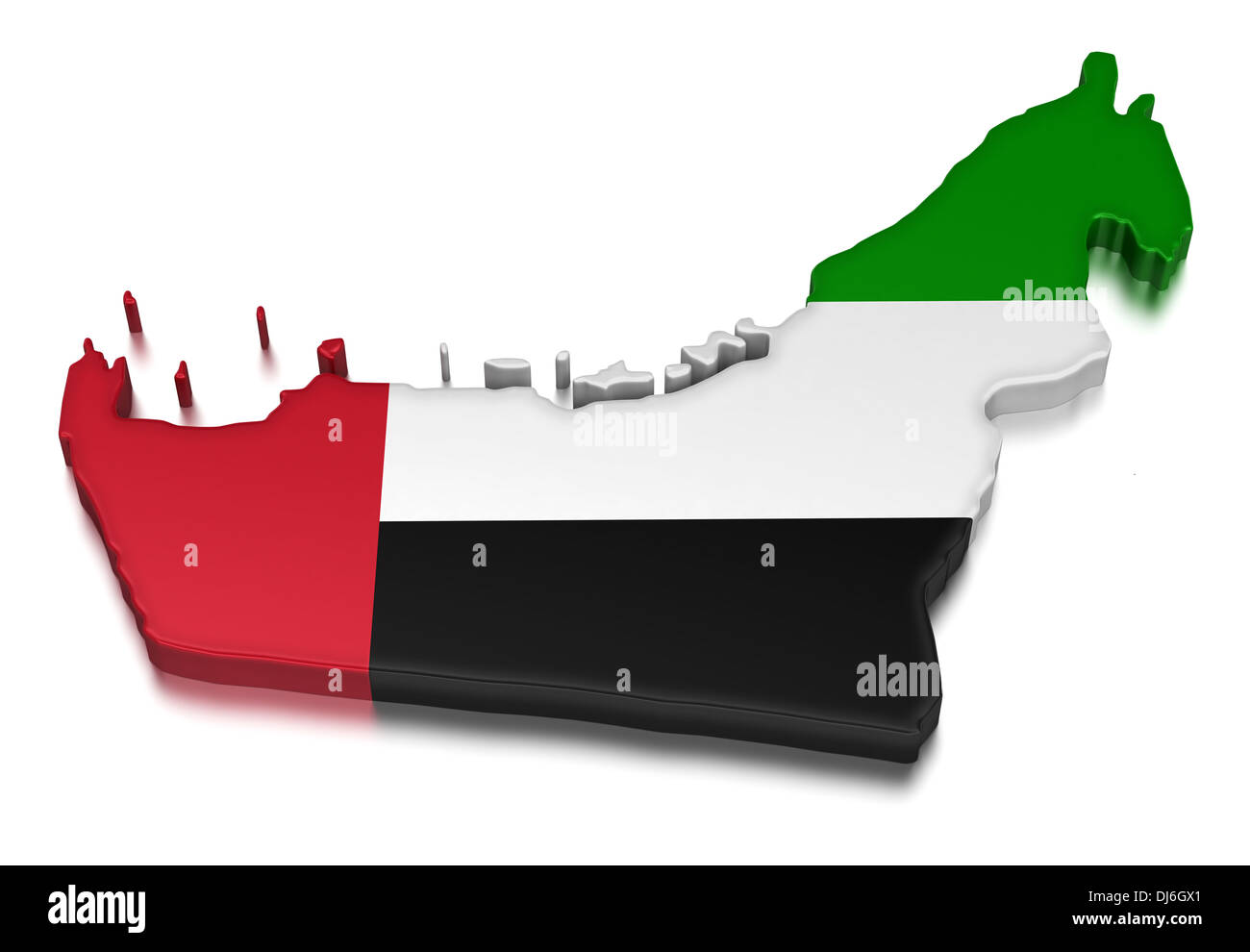 United Arab Emirates (clipping path included) - Stock Image