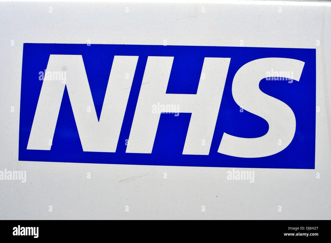 An NHS sign at St Charles hospital, west London, UK - Stock Image