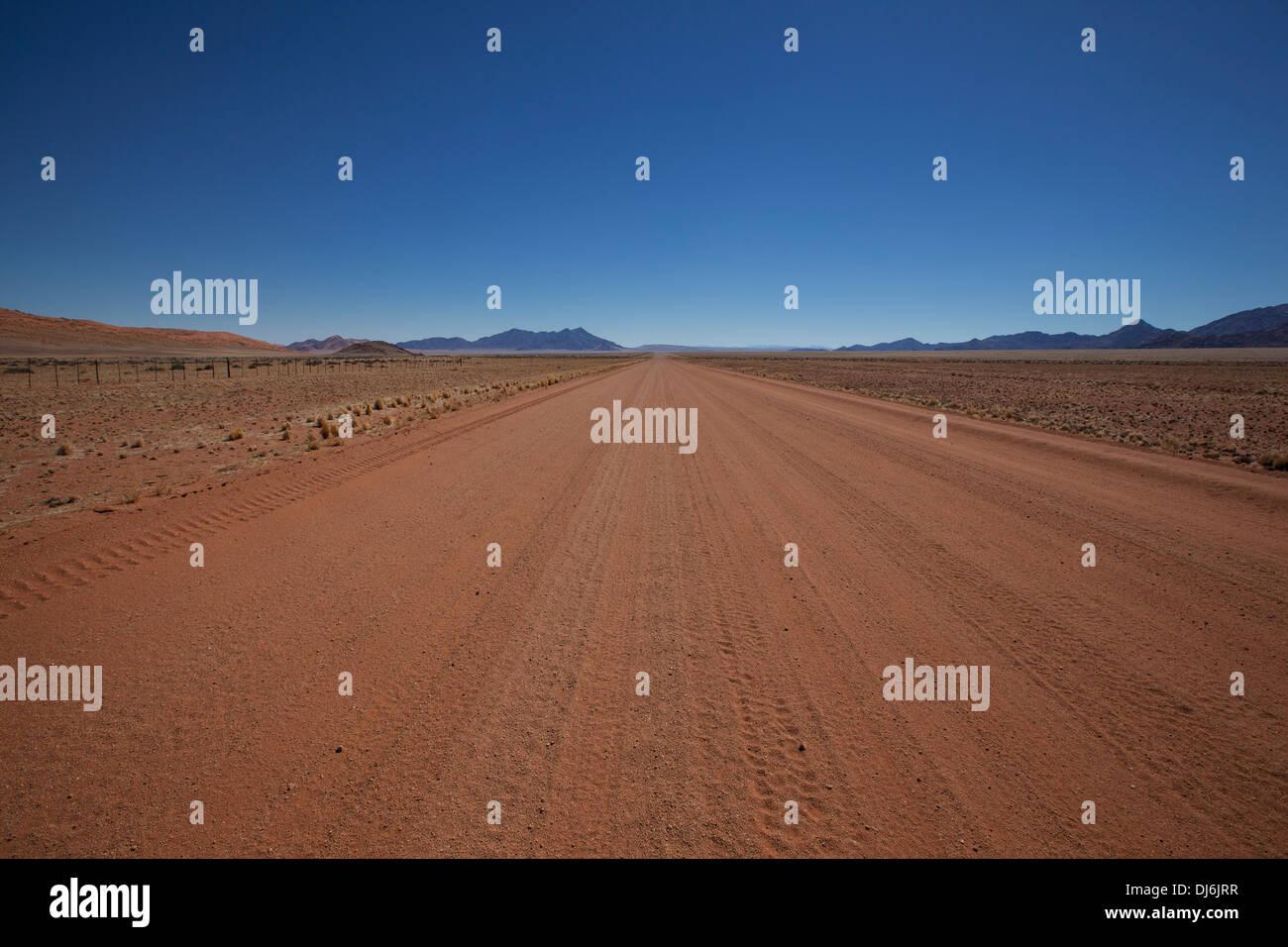 Legendary Namibian Road D707; Namibia - Stock Image