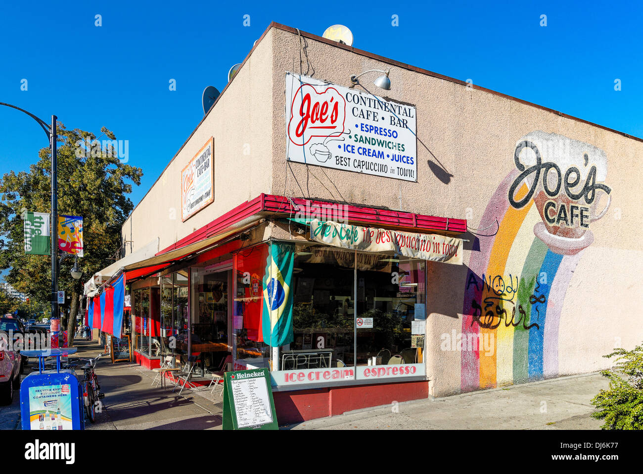 Joes Cafe, Commercial Drive, Vancouver, British Columbia, Canada Stock Photo