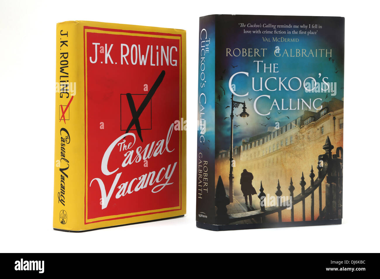 Hardback Books The Casual Vacancy and The Cuckoo's Calling Both By J.K Rowling Stock Photo