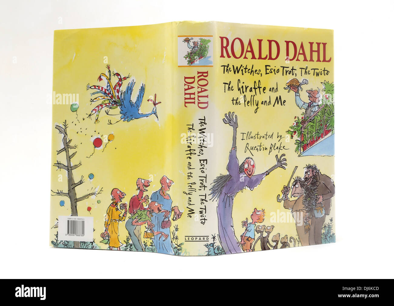 Hardback Book Of Roald Dahl Stories Illustrations By Quentin Blake - Stock Image