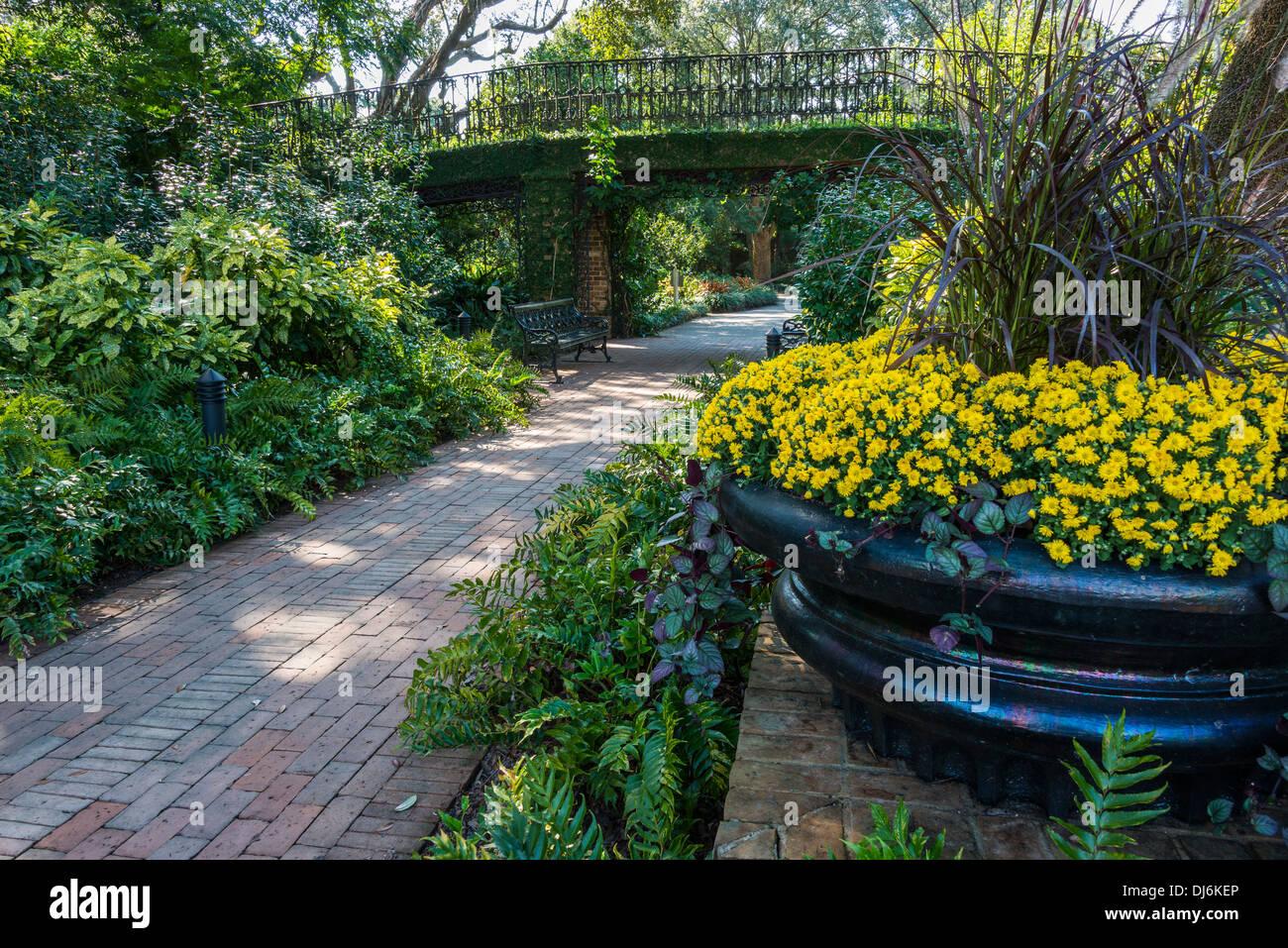 Inside Bellingrath Gardens, Theodore, Alabama. - Stock Image