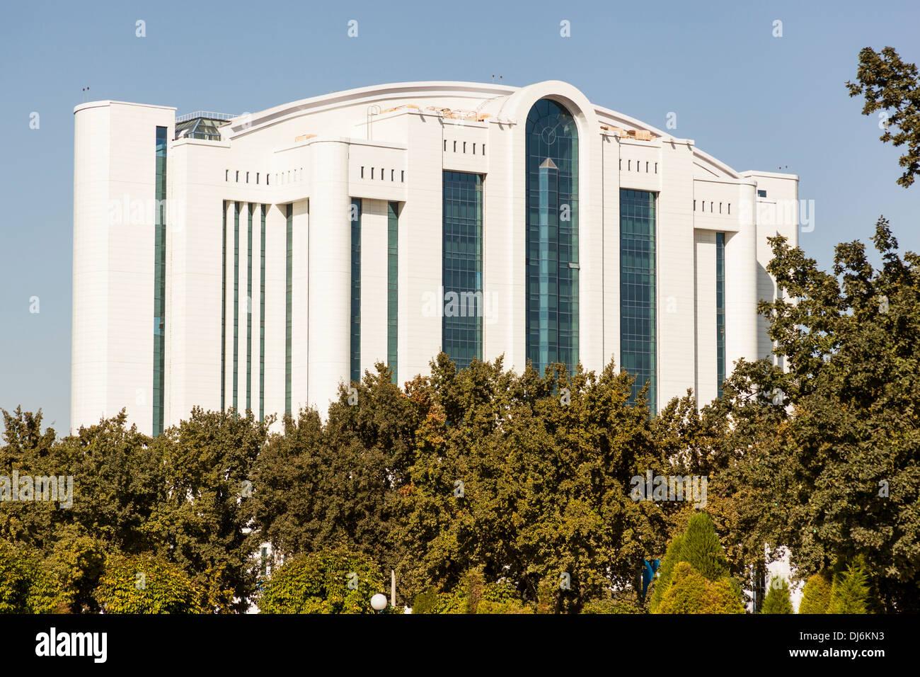 Poytaht Business Complex, Sharaf Rashidov Avenue, Tashkent, Uzbekistan Stock Photo