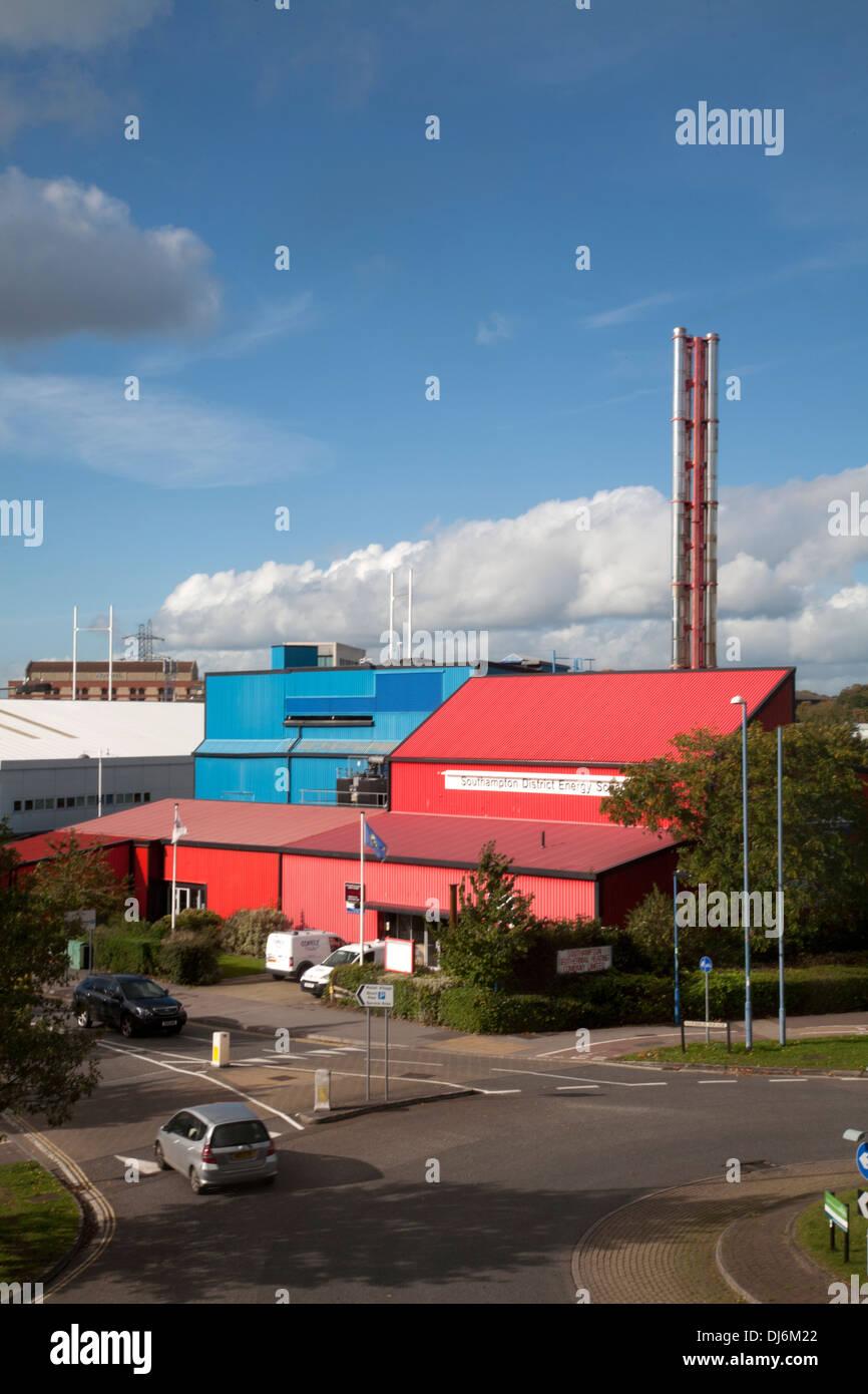 southampton district energy scheme southampton hampshire england - Stock Image