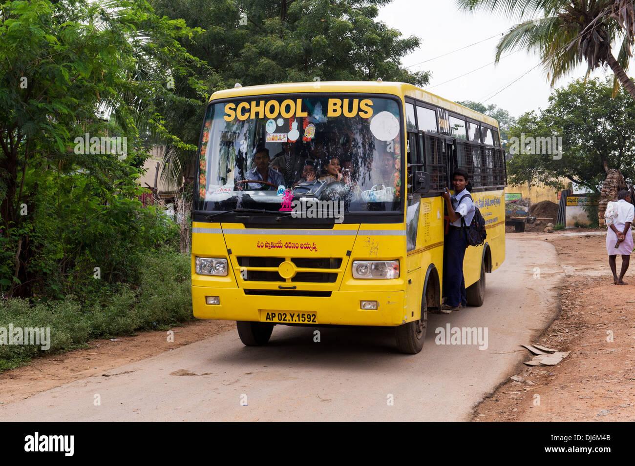 Indian School Buses Stock Photos Indian School Buses Stock
