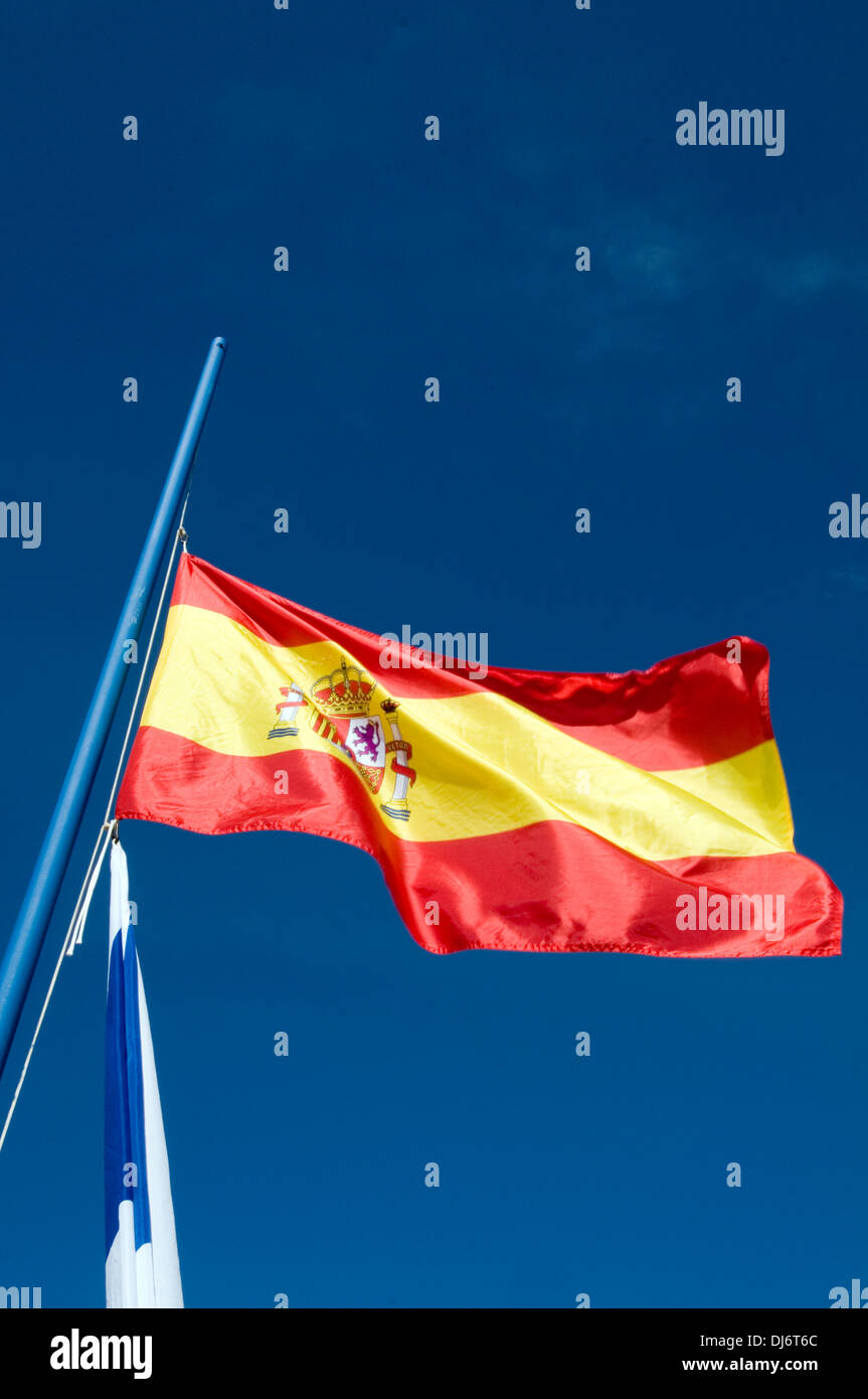 spain spainsh flag flags - Stock Image