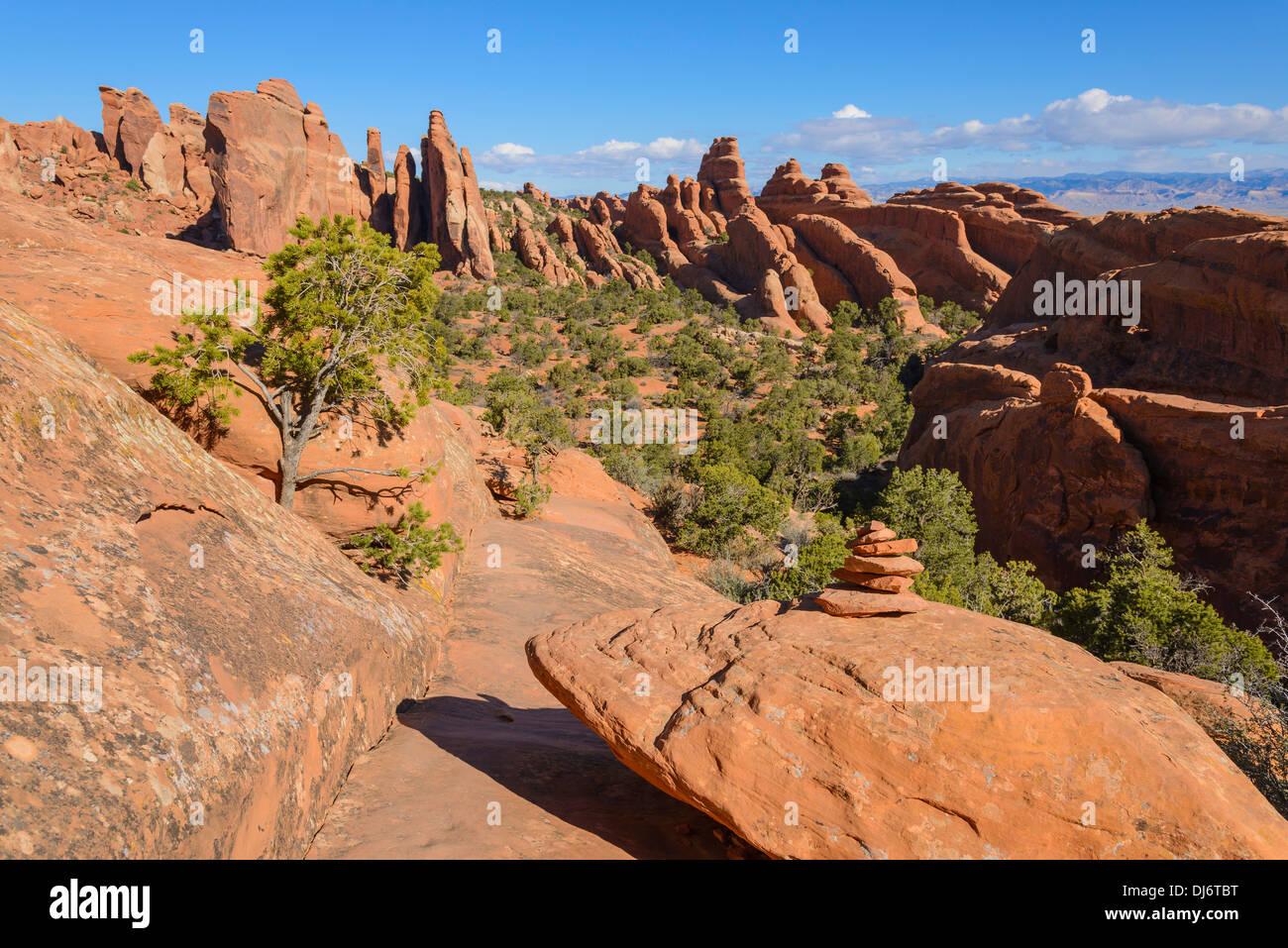 Fins, Rock formations, Devils Garden, Arches National Park, Utah ...