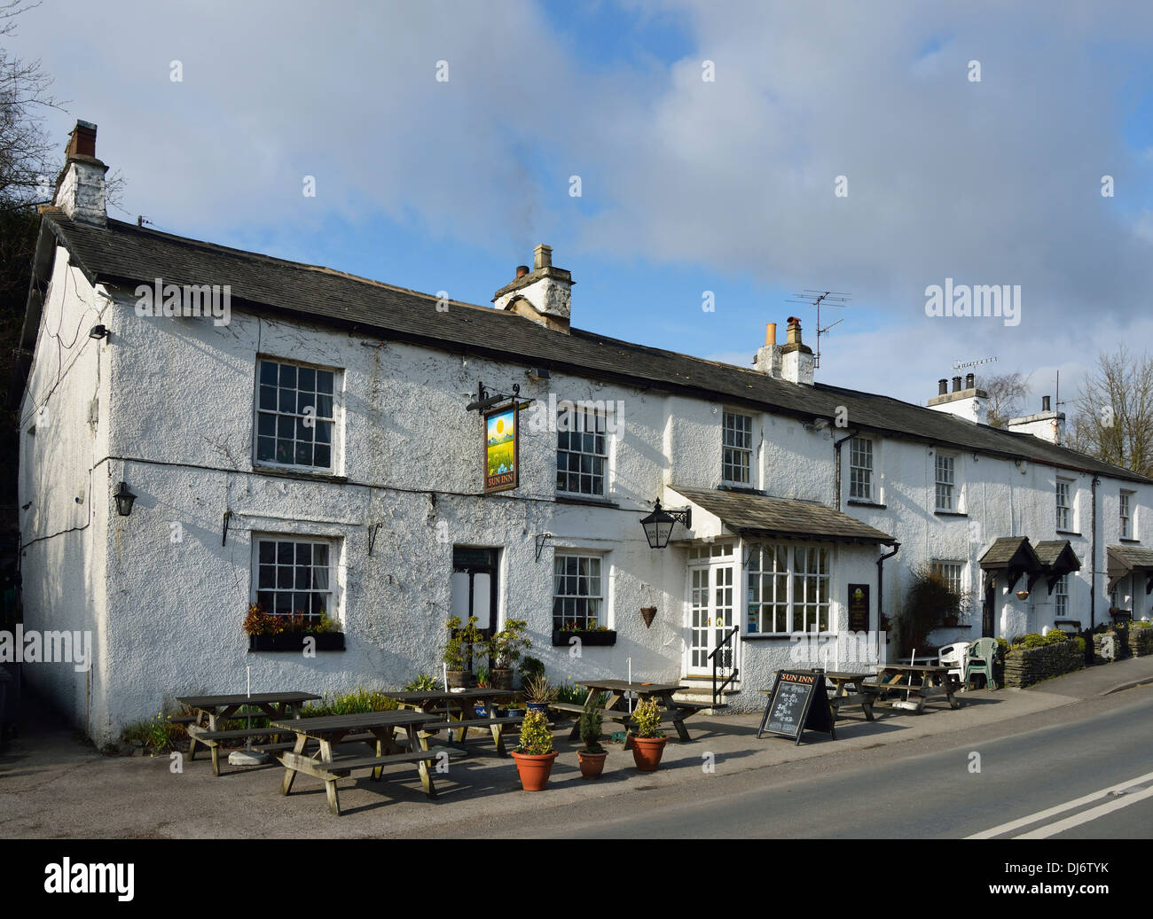 The Sun Inn, Crook, Lake District National Park, Cumbria, England, United Kingdom, Europe. - Stock Image