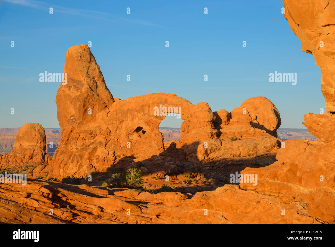 Turret Arch, Arches National Park, Utah, USA - Stock Image