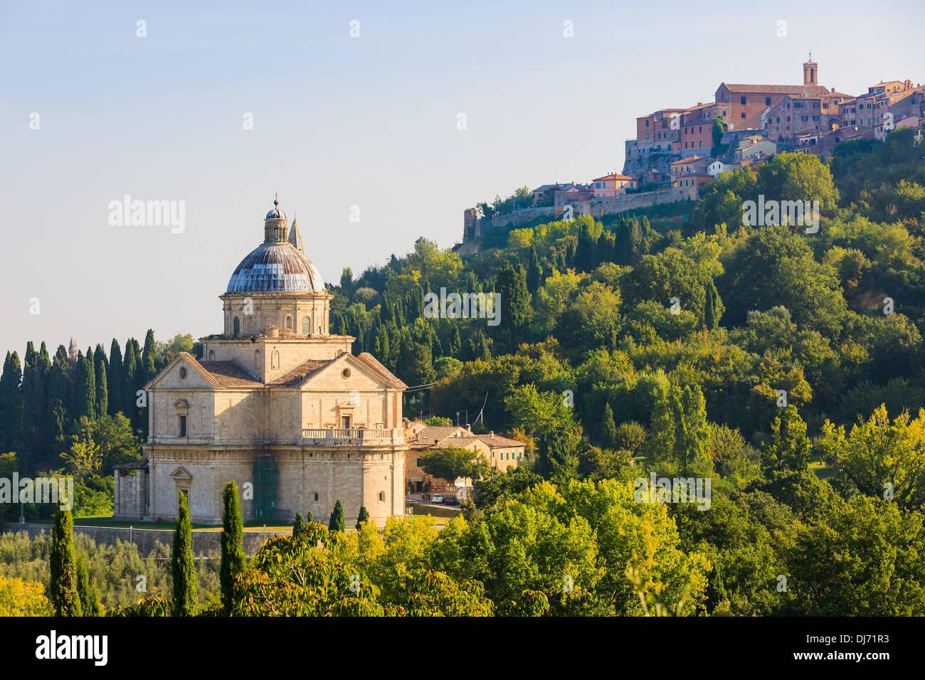 The Sanctuary of San Biagio, Montepulciano, Italy - Stock Image