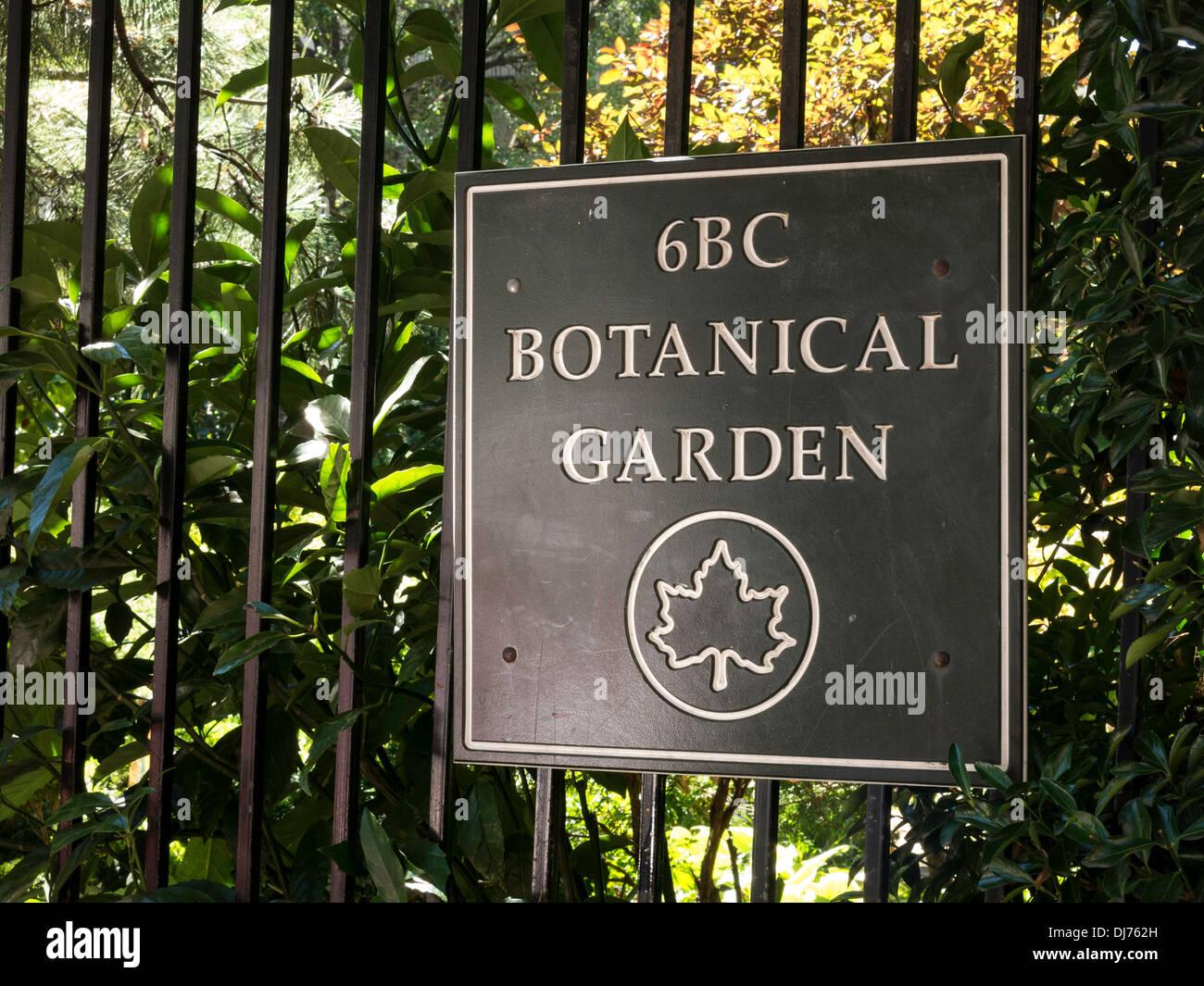 6BC Botanical Garden Sign, NYC
