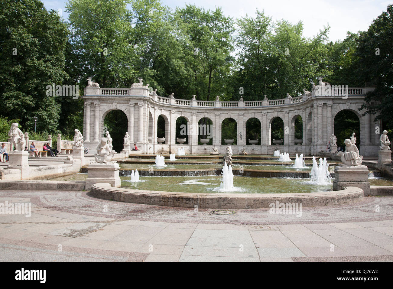 Marchenbrunnen Fairy Tale Fountain (1913) in the Volkspark Friedrichshain Park, Berlin, Germany - Stock Image
